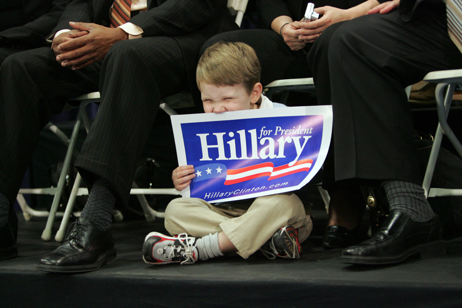 Hillary Clinton supporter, campaign trail 2008